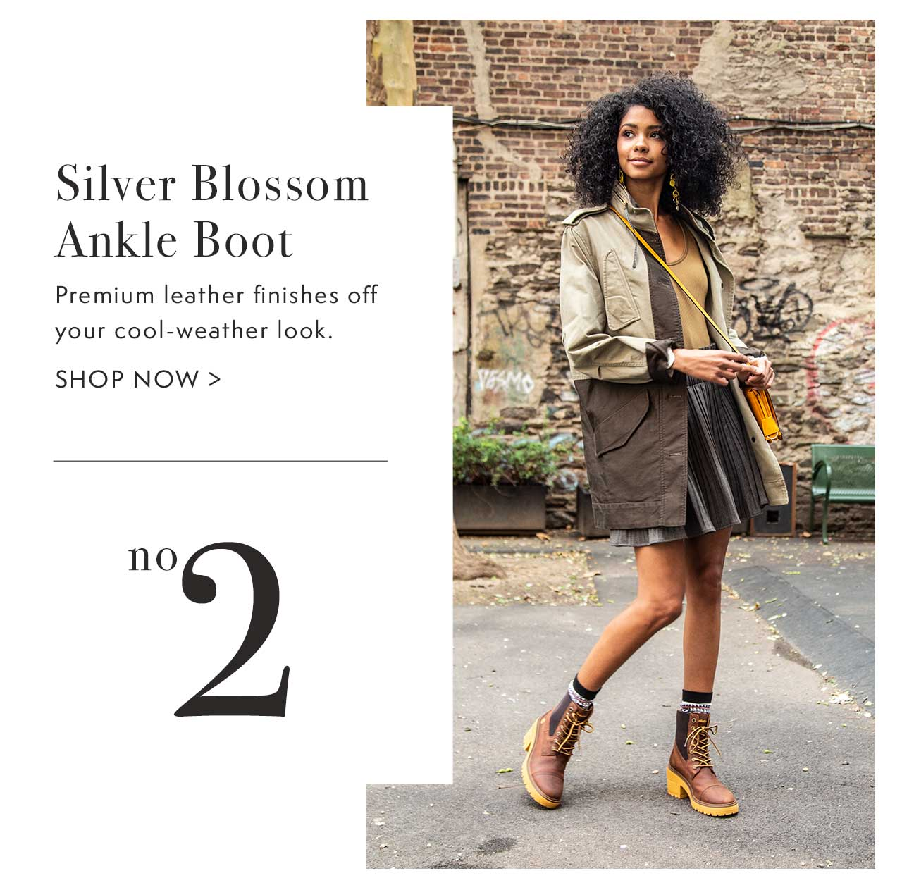 Silver Blossom Ankle Boot No. 2                                                 Shop Now