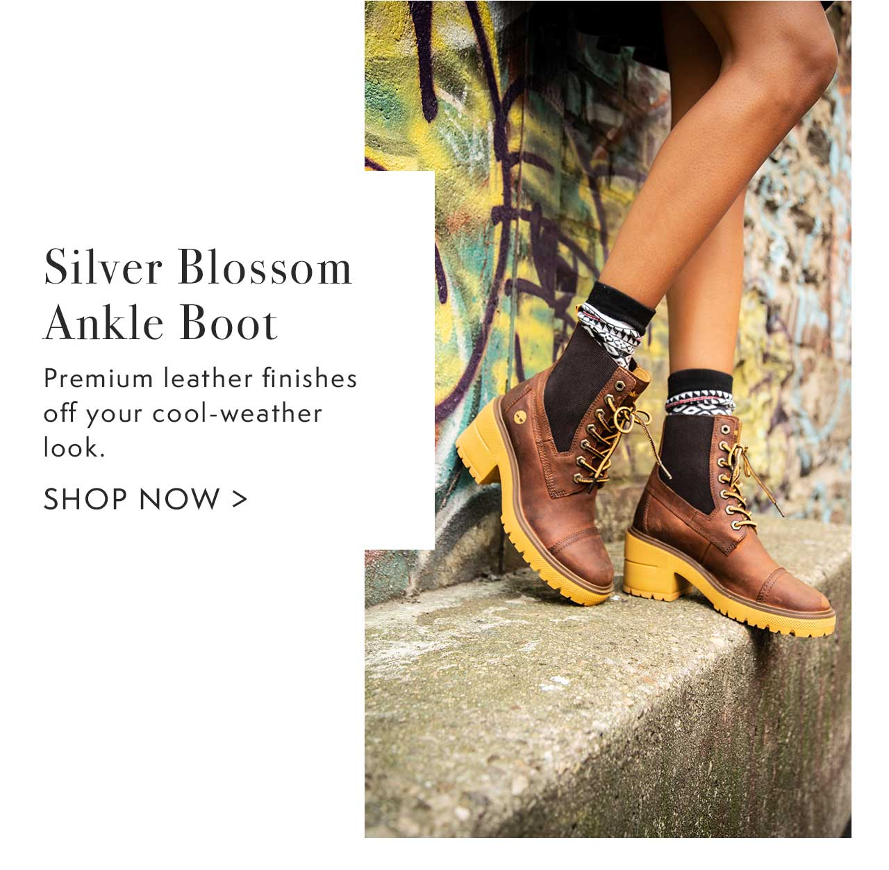 Silver Blossom Ankle Boot                                                Shop Now